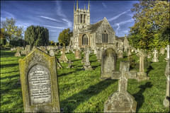 Aldwincle Church Graveyard (Darwinsgift) Tags: aldwinkle church northamptonshire grade 1 listed anglican architecture hdr photomatix nikkor pce 24mm f35 d ed nikon d810 all saints