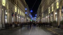 Torino di notte : via Roma .... e i fantasmi ... (Roberto Defilippi) Tags: 1022016 rodeos robertodefilippi notte night struscio passeggio fantasmi ghost luci festa tripod lungaesposizione street