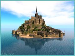 Il est revenu :-) (Tim Deschanel) Tags: tim deschanel sl second life paysage landscape mont saint michel france build extraodinaire