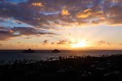 Lanikai Sunrise (Kelsie DiPerna) Tags: hawaii oahu outdoor landscape sunset ocean clouds cloudscape wanderlust lanikai lanikaipillboxes sunrise islands kailua hiking