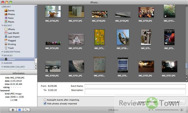How to Transfer Camera Photos/Videos to iPhoto