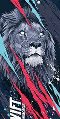 (DANI BLZQUEZ) Tags: longboard skate skateboard skateboarding longboarding deck lion animal illustration drawing draw graphite color digital photoshop