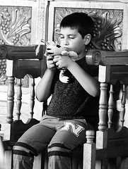 life of a child (vetlife2005) Tags: child childhood childish play toy blackandwhite portrait innocence concentration joy happy moments life reallife