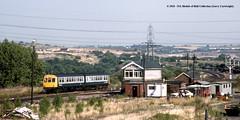 04/08/1989 - Woodhouse Junction, Sheffield, South Yorkshire. (53A Models) Tags: britishrail metropolitancammell train railway locomotive railroad class111 dmu diesel passenger woodhousejunction sheffield southyorkshire