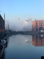 Lifting fog (Deydodoe) Tags: mersey merseyside scouse victorian dock albertdock liverpool