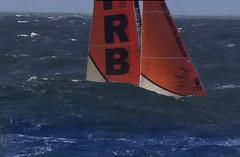 Waves eating up Sail (worlogha) Tags: waves sailingboat sailing sail sailboat ocean boat boats