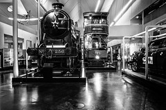 256 and 779 (@bill_11) Tags: glasgowtransportmuseum industrialtransportheritage museums scotland glasgow tram riversidemuseum 256 779 steam locomotive electric nik silverefexpro glendouglas