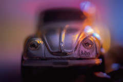Ticket to Ride (HMM) (Bokehschtig (ON/OFF)) Tags: hmm macromondays beatles beetle kfer vwkfer macro proxy happymacromondays happymacromonday macromonday car toy lighter color blur colour dof bokeh shallowdepthoffield depthoffield sonya7m2 sonyalpha7 sel90m28g