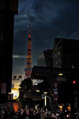 Tokyo Tower From Hamamatsucho (El-Branden Brazil) Tags: japan japanese tokyo tokyoites asia asian tokyotower hamamatsucho nightlife sunset