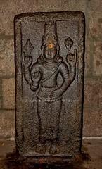 "Vishnu  @ Oppilamanisvarar Temple (Arakandanallur-Araiyaninallur)-South Arcot District. (Kalai ""N"" Koyil) Tags: nikon d 5200 18140mm 2016 arakandanallur araiyaninallur rockcut cavetemple structuraltemple kalai n koyil oppilamanisvarar tirukkoyilur taluk thiruvannamalai southarcot district tamilnadu southindiantemple architecture kulottunga chola 3 vishnu thirumaal nediyon maayon"