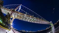 Rainbow Bridge (Art Fiveone) Tags: rainbowbridge odaiba shibaura tokyo japan nightshot nightview panorama fisheye sky city bridge
