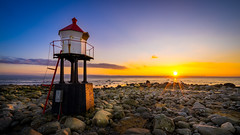 Little guardian (Richard Larssen) Tags: richard richardlarssen rogaland larssen landscape light lighthouse fyr norway norge norwegen nature sony scandinavia sea sky sunset sel1635z sun rocks jren h htangen a7ii
