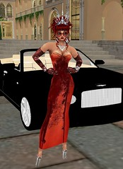 Carwash 2 (SoakinJo) Tags: imvu wetlook wetclothes soakinjo highheels carwash wetdress extremeheels partlywetclothes halfwet