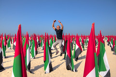 Happy 45th UAE National Day (Cliff Rozal) Tags: dubai kite beach kitebeach jumeirah burjalarab uae uaenationalday nationalday 45thuaenationalday flags uaeflag flagsgarden nikon