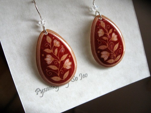 Earrings Etched 019