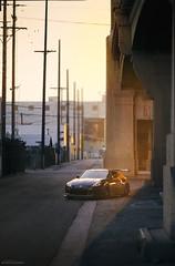 Nissan Fairlady Z, Sunset 6th Street Bridge, Los Angeles (Jason Scheier) Tags: street sunset urban sun lines racecar concrete la los warm glow nissan sundown angeles dusk bridges 85mm racing mines nikkor asphalt moonface 6th apr volk stance zcar nismo urbanite hankook trackcar te37 superstreet losangelesla rs3 nissanfairladyz mooncraft maximumattack d7000 rstuning canibeat stancenation iamthespeedhunter therstuning g2type2 sunset6thstreetbridge