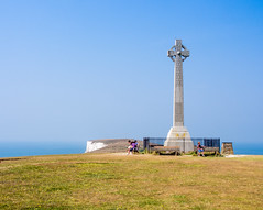 There are magnificent views from the monument to Alfred Lord Tennyson on the Isle of Wight (Anguskirk) Tags: uk england monument island memorial eu cliffs vectis isleofwight solent southcoast footpath englishchannel freshwater poetlaureate tennysondown alfredlordtennyson tennysontrail