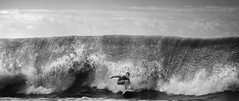 Go Kid, Go!! (McSnowHammer) Tags: bw france ir mono la wave hossegor surfing infrared pro grom breaking chasing quiksilver graviere 2013 whitwash kotg