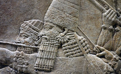 Lion Hunts of Ashurbanipal, aiming (face)