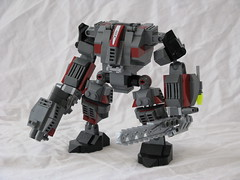 Red Rogue Front (ExclusivelyPlastic) Tags: lego military alien mech