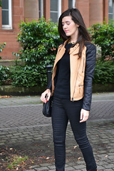 Biker faux leather jacket (Natbees_Fashion) Tags: black leather beige jacket faux biker ukfashionblogger