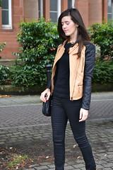 Biker faux leather jacket (Natbees_Fashion) Tags: black leather beige jacket faux biker ukfashionblogger