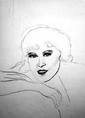 "Mae West charcoal2 • <a style=""font-size:0.8em;"" href=""https://www.flickr.com/photos/78624443@N00/9758274571/"" target=""_blank"">View on Flickr</a>"