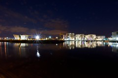 Titanic Quarter After Dark - #FlickrFriday No.37 (Derek Hall) Tags: art beautiful photography interestingness amazing nikon flickr experimental experiment competition collection explore mostinteresting theme flickrchallenge concept exploration submission challenge global flickrfriday explored weeklycompetition nphoto themechallenge project52 flickraward nikonflickraward flickraward5 frickrfriday