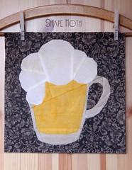 Beer Mug PP pattern (1) (ShapeMoth) Tags: man guy beer quilt drink oktoberfest mug block patchwork glas pp paperpieced shapemoth papierpiecing