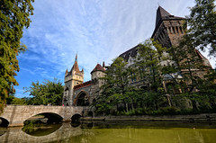 Vajdahunyad Castle in Budapest (Dragos Cosmin- Getty Images Artist) Tags: park city blue lake reflection tree tower castle history nature architecture outdoors pond gate europe hungary day architecturaldetail fort budapest landmarks palace vacations scenics clearsky arranging traditionalculture vajdahunyad urbanscene vajdahunyadcastle capitalcities gothicstyle famousplace buildingexterior architectureandbuildings baroquestyle europeanculture builtstructure hungarianculture travellocations