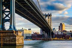 New York (Edi Bhler) Tags: newyorkcity bridge sky newyork building nature clouds river natur perspective himmel wolken structure eastriver waters brcke fluss bauwerk suspensionbridge gebude perspektive hngebrcke gewsser vereinigtestaaten 2470mmf28 nikond800 manhattanbridgenewyorklm