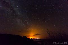 Night fire (NettyA) Tags: night stars fire nightscape australia nsw newsouthwales bushfire milkyway minniewaters yuraygirnationalpark diggerscamp