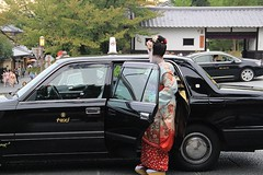 (2) The Maiko almost there in the Taxi, I was coming from Kiyomizu-Dera. Gion, Kyoto. Japan (Egyptian Lady) Tags: woman flower girl japan lady hair cherry japanese kyoto paint dress mask tea taxi traditional traditionalart decoration ceremony makeup traditions maiko geisha wig cherryblossom kimono obi makeover teaceremony gion japanesetraditions teahouse kiyomizu kiyomizudera eri traditionaljapan geishadistrict hairpins traditonal kamon kanzashi paintedface traditionalcostumes oldjapan hairdecoration apprenticegeisha traditionaljapanesehouse maezashi maikointraining japantraditions