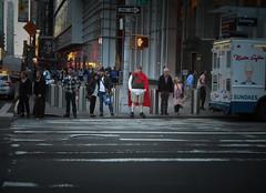 Quail-man (john fullard) Tags: street city nyc urban newyork costume manhattan candid quail quailman fujix10