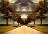 Country Road Take Me Home (Tau Zero) Tags: mirror illinois symmetry nightmare backroad johndenver macadam digitalmirror