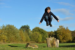 Above the Treeline (MrHRdg) Tags: jump stump leap airfield blackbushe rafhartfordbridge
