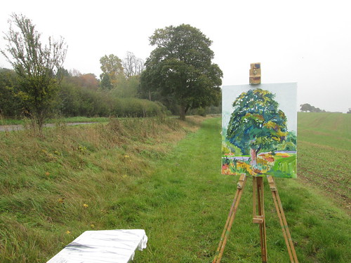 Painting En Plein Air, Ipsden, Oxfordshire 6th November 2013