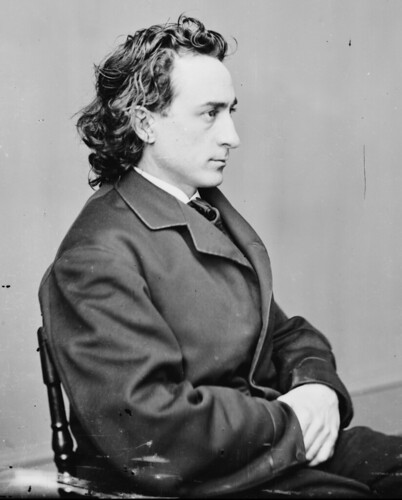 (animated stereo) Actor Edwin Booth, c.a. 1875