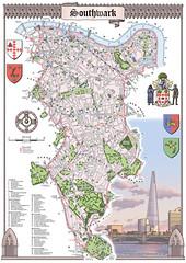London Borough of Southwark - new design (Mike Hall illustration) Tags: london thames illustration map decorative gothic bermondsey se22 eastdulwich shard riverthames southlondon oldkentroad rotherhithe southwark dulwich peckham camberwell se5 canadawater se1 surreyquays peckhamrye se16 elephantandcastle londonuk citymap denmarkhill dulwichpark se15 londonart se17 burgesspark se21 dulwichvillage theshard southwarklondon illustratedmap theshardlondon theshardtower decorativemap illustratedcitymap londonukmap londoncitymap illustratedmaplondon gothicborder neogothicborder neogothicborderdecoration southwarkmap southwarkboroughmap southlondonmap illustratedlondonmap