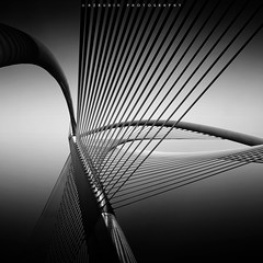 Strings II (azrudin) Tags: sunset sun sky slow slowshutter square shahalam squareformat silhouette still scapes putrajaya photography nikon1024 nikon minimalist monorailbridge lowlight malaysia light jetty fineart gnd09 goldenhour filter cityscape cloud d7000 bw1000 art architecture blackwhite azrudin