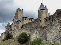 La Cit - Carcassonne (Mono Andes) Tags: france day cloudy francia carcassonne castillo worldheritage carcasona patrimoniodelahumanidad