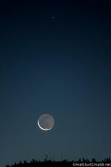 IMGP1580-Edit (Matt_Burt) Tags: morning sky moon dark dawn star crescent zubenelgenubi earthshine
