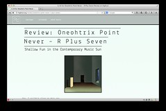 Review: Oneohtrix Point Never  R Plus Seven (hey.pictrues) Tags: music never point review pop seven r plus avant garde oneohtrix