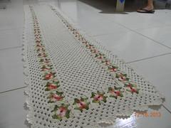 Tapete de croch com linha fial crua com barroco 2.65x56 com 74 flores no total (Cleme - Crochs & bordados) Tags: artesanato tapete linha trabalhosmanuais croch croches tapetecroch linhabarroco