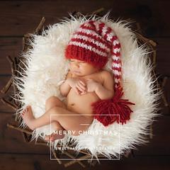 Merry Christmas! (sweethardt) Tags: family boy sleeping red baby 6 white hat fur photographer nest lifestyle naturallight days newborn bayarea asleep striped pompom sweethardtphotography ©2013jenniferhardt