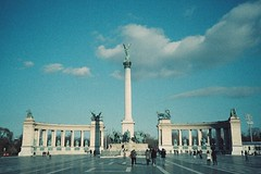 Budapest (cranjam) Tags: film monument square lomo lca lomography memorial hungary budapest unesco worldheritagesite column ungheria herossquare hősöktere adox millenniummemorial colorimplosion