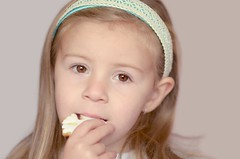 (vanilla_jo) Tags: snowflake pink white girl kid cookie child sweet