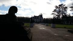 Sfingi all'ingresso del Castello di Chenonceau