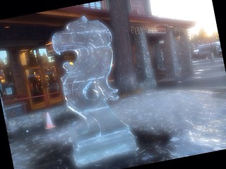 Crazy ice sculpture