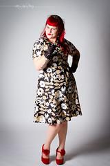 Backseat Bettie (olyheather) Tags: portrait pierced sexy studio model dress retro redhead gloves 7d olympia heels rockabilly piercings redhair burlesque pinup 2014 heatherschofner rockcandyburlesque backseatbettie